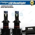 2x Plug & Play 90 W 12000LM P hilips LED H4 H7 H8 H9 H11 9003 HB2 Bombilla Blanca Niebla DRL car-styling Kit de Faros Bombilla Reemplazar HID