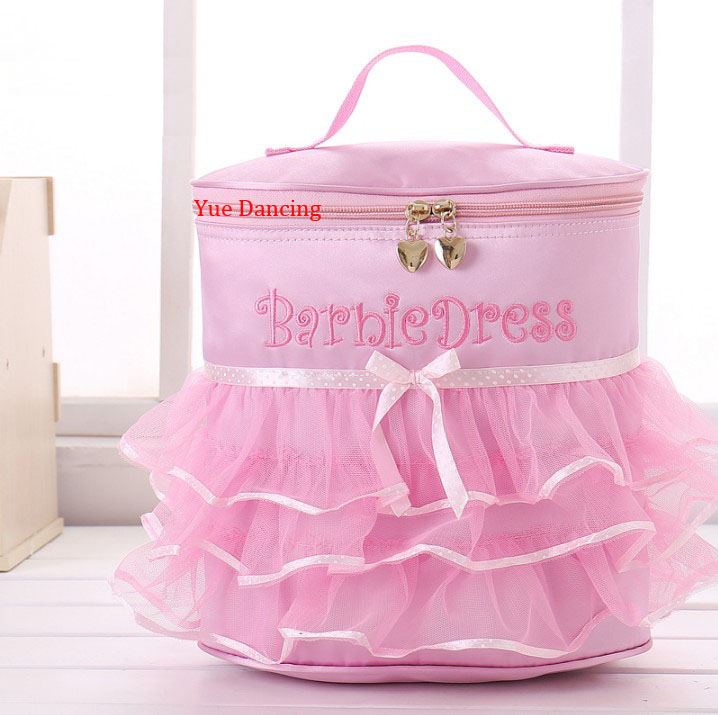 Children Ballet Dance Backpack Dancing Bags Pink Ballet Bag For Girls Toddler Cute Ribbon Embroidery Dance Bag For Ballet Girls