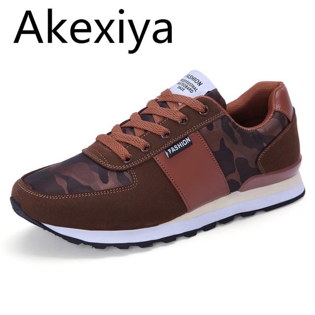 Akexiya Fashion Spring/autumn Men Casual Shoes Patchwork Men Falts Walking Shoes Zapatillas Deportivas Hombre Mens Shoes 4 Color