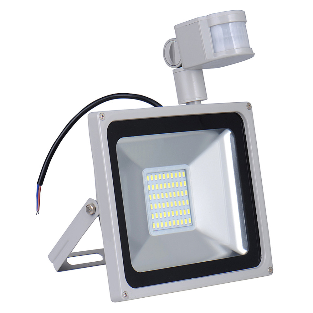 5pcs Pir Led Flood Light Motion Sensor Outdoor Lighting 50w Waterproof Ip65 Ac 110v 70led 3000lm