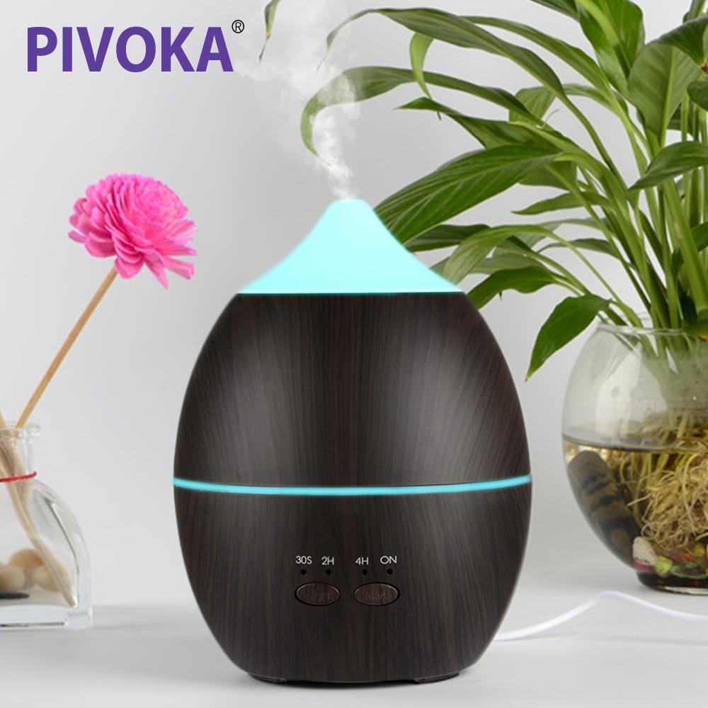 все цены на PIVOKA 300 ml Silent Electric Air Humidifier Ultrasonic Essential Oil Smoke Diffuser Aroma Care A variety Of Led Aura онлайн