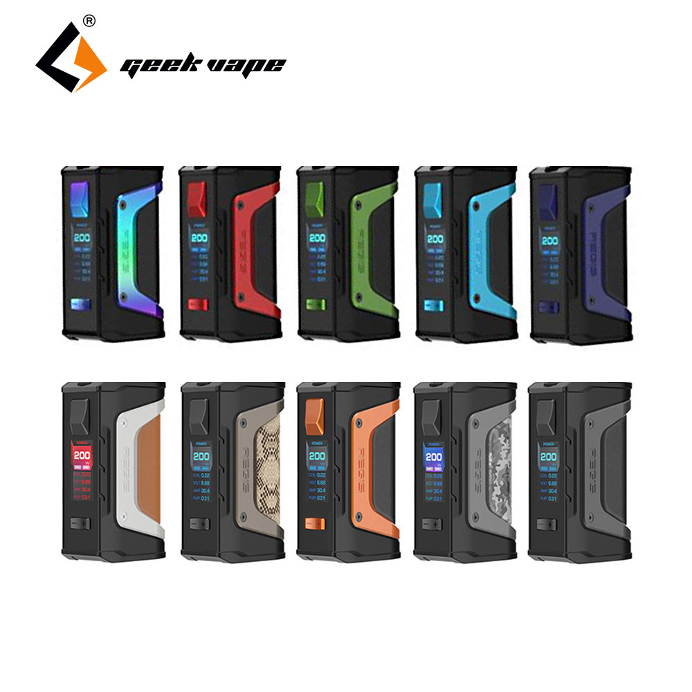 2pcs/lot GeekVape Aegis Mod Aegis Legend 200W TC Box MOD Powered By Dual 18650 Batteries E-Cigs No Battery for Zeus Rta Blitzen