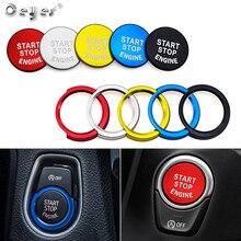 Ceyes автомобильный Стайлинг двигатель зажигания СТАРТ стоп кольцо чехол для Bmw F20 F21 F30 F31 F10 Кнопка декоративный выключатель аксессуары Чехлы