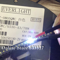 1000 sztuk/partia 2012 0805 biały SMD koraliki do lampy Ultra jasne 500 600mcd LED dioda elektroluminescencyjna diody LED podkreślają w Świecące koraliki od Lampy i oświetlenie na