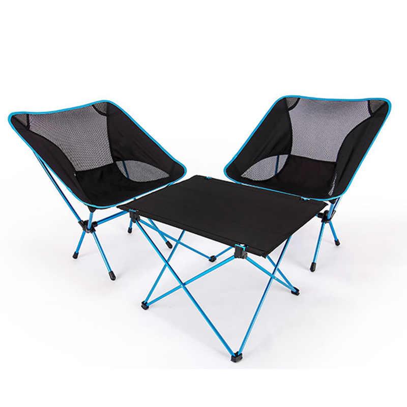 Portátil plegable DIY mesa y silla Camping barbacoa senderismo viaje al aire libre Escritorio de Picnic 7075 aleación de aluminio ultraligero