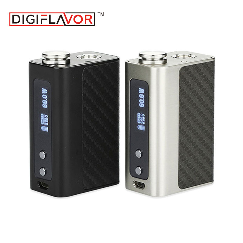 Authentic 60W Digiflavor DF 60 TC Box MOD Built-in 1700mAh Battery Wattage/SSTC/NITC/TITC/TCR mode Vape Mod with Unique DF Chip clearance original 60w digiflavor df 60 tc mod with 1700mah built in battery max 60w output electronic cigarette vape box mod