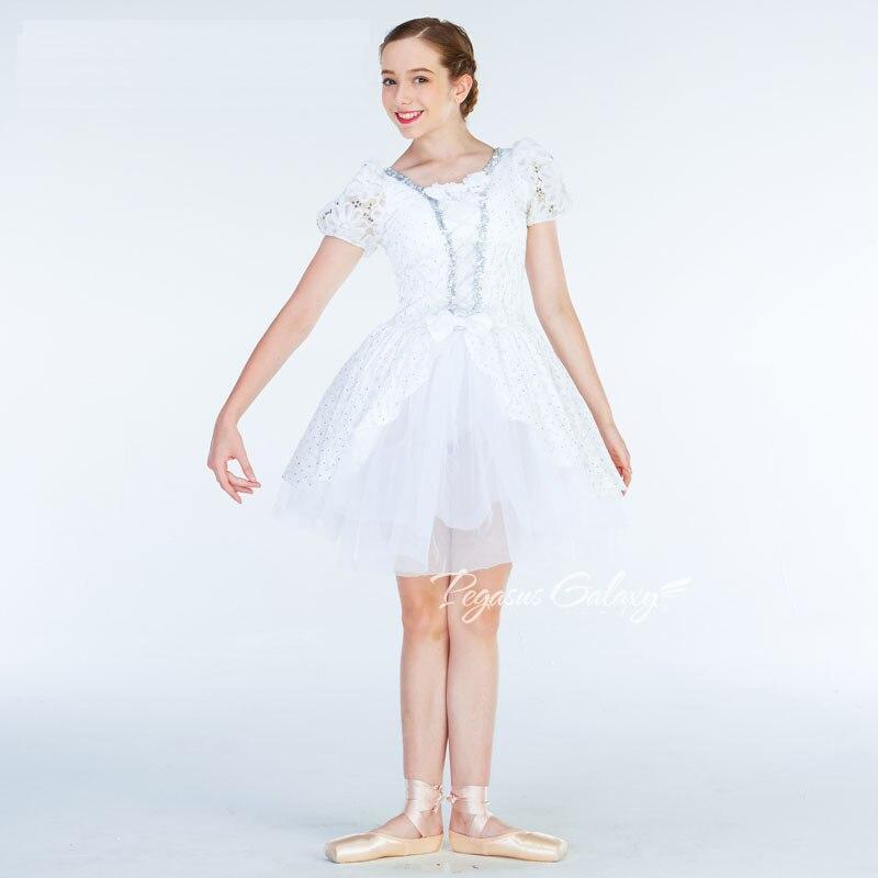 White Snow Ballet Dress F Girls Kids Sequins Lace Ballet Dance Costume Ballet Leotards For Women