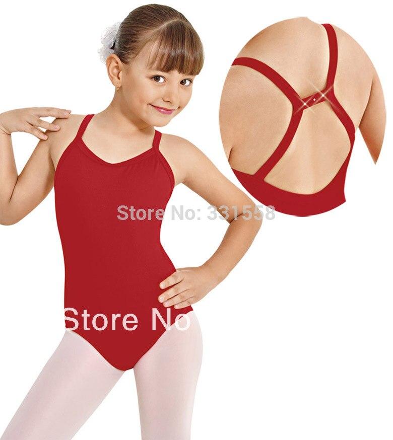 Child push back camisole leotard kids ballet dance costumes cotton lycra ballet leotard for girls gymnastic