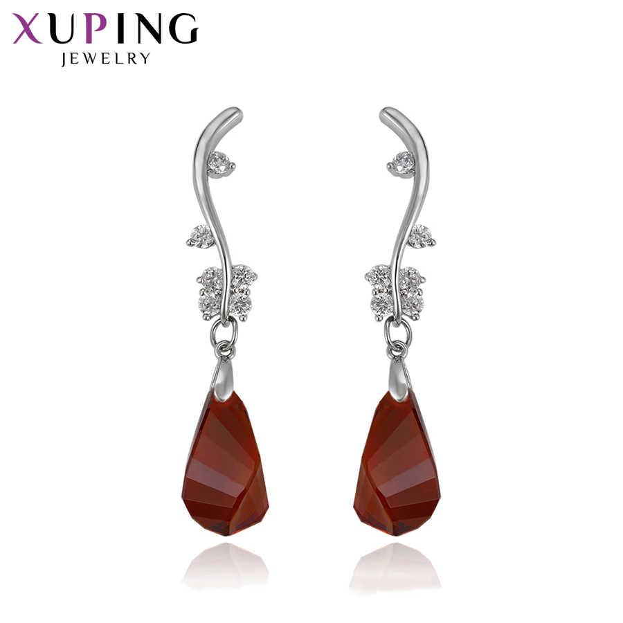 11.11 Xuping Anting-Anting untuk Wanita Temperamen Kristal dari Swarovski Eropa dan Amerika Hot Menjual Perhiasan S144.1-93306