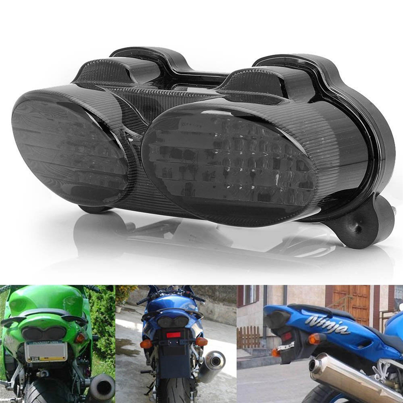Triclicks Smoke Motorcycle Brake Tail Light Integrated Led