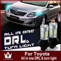 Night Lord  For REIZ GRX130 7440 T20  WY21W CAR LED DRL& Front Turn Signals all in one double color