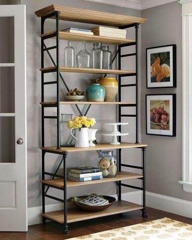 Estilo francés americano muebles estantería estantería de madera ...