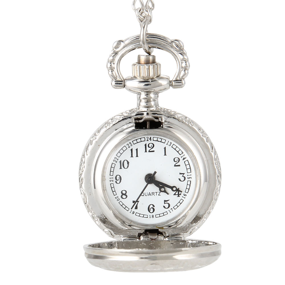 Fashion Vintage Women Quartz Pocket Watch Alloy Flowers Silver Hollow Out Lady Girl Sweater Chain Necklace Pendant Clock Gifts 2017 hot sell quartz pocket watch fob watches vintage hollow necklace pendant retro clock with chain gifts ll 17
