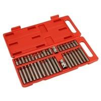 40pcs/set CR V Bit Set Hex Spline Trox Bits and Bit Holder Socket Adapter For Electric Screwdrivers Repair Tools Kit