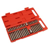 40pcs/set CR V Bit Set Hex Spline Trox Bits and Bit Holder Socket Adapter For Electric Screwdrivers Repair Tools Kit