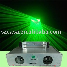 Dual Lens 50mW Green Stage Lights Background Dj Disco Party Lights For Sale