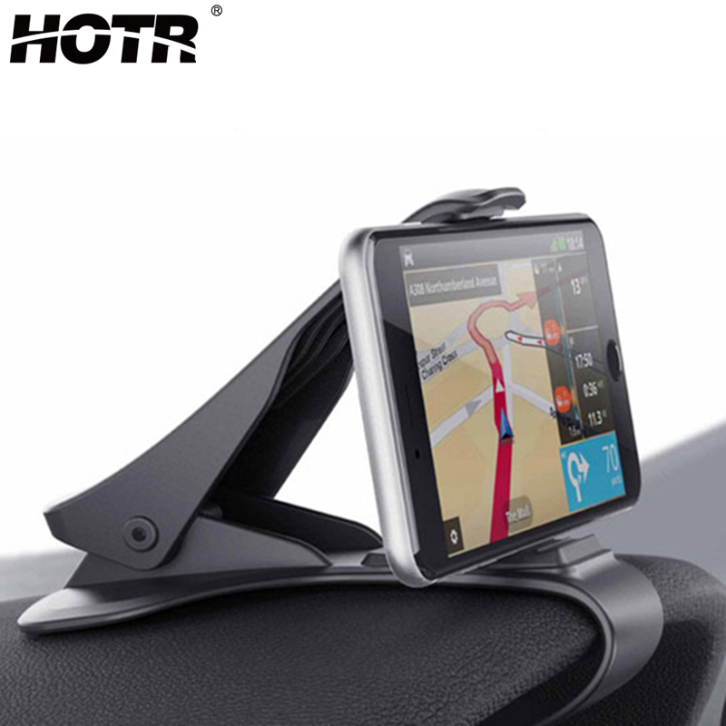 6.5inch Dashboard Car Holder Easy Clip Car Phone Holder Universal For Iphone XS Max X 8 7 6 6S 5S For Samsung Note 9 S10 Plus S9