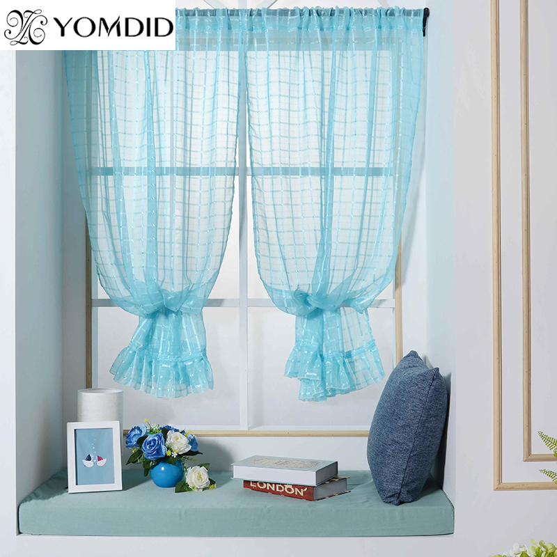 1 Pcs Tulle Roman Curtains Fresh Style Curtain For Kitchen Living Room Bedroom Window Short