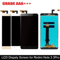 100 New Hongmi Note 3 LCD Display Digitizer Touch Screen Assembly Replacement For Xiaomi Redmi Note