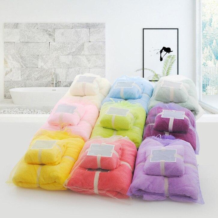 Bath Towels Lots: 2 Pieces/Lot Microfiber Towel Set 1*bath Towel 70x140cm 1