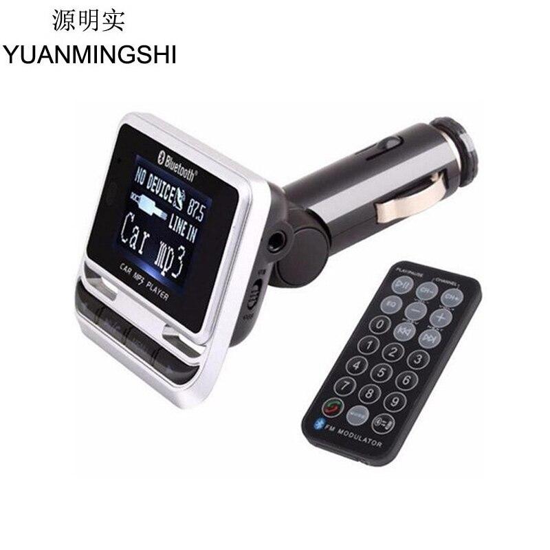 YUANMINGSHI Bluetooth voiture lecteur MP3 sans fil FM transmetteur LCD écran voiture Kit avec chargeur USB prise en charge TF carte Line-in AUX