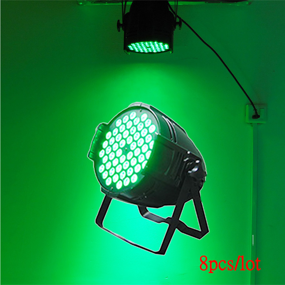 8pcs/lot 3W X 54 LED Bulb Par Light Sound Control Stage Effect Light Spotlight Lamp Professional Lighting For Disco DJ Paty KTV cute frog style two white led flashing light keychain w sound effect pink 3 x lr1130