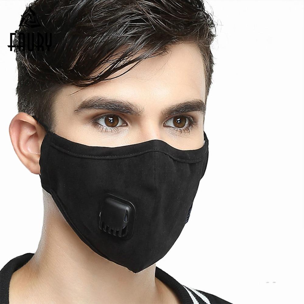 Máscara De La Boca Reutilizables De Algodón Pm2.5 Anti Niebla Anti Polvo De Máscara De Filtro De Carbono Activado Facial Máscara Máscaras De Atención De La Salud