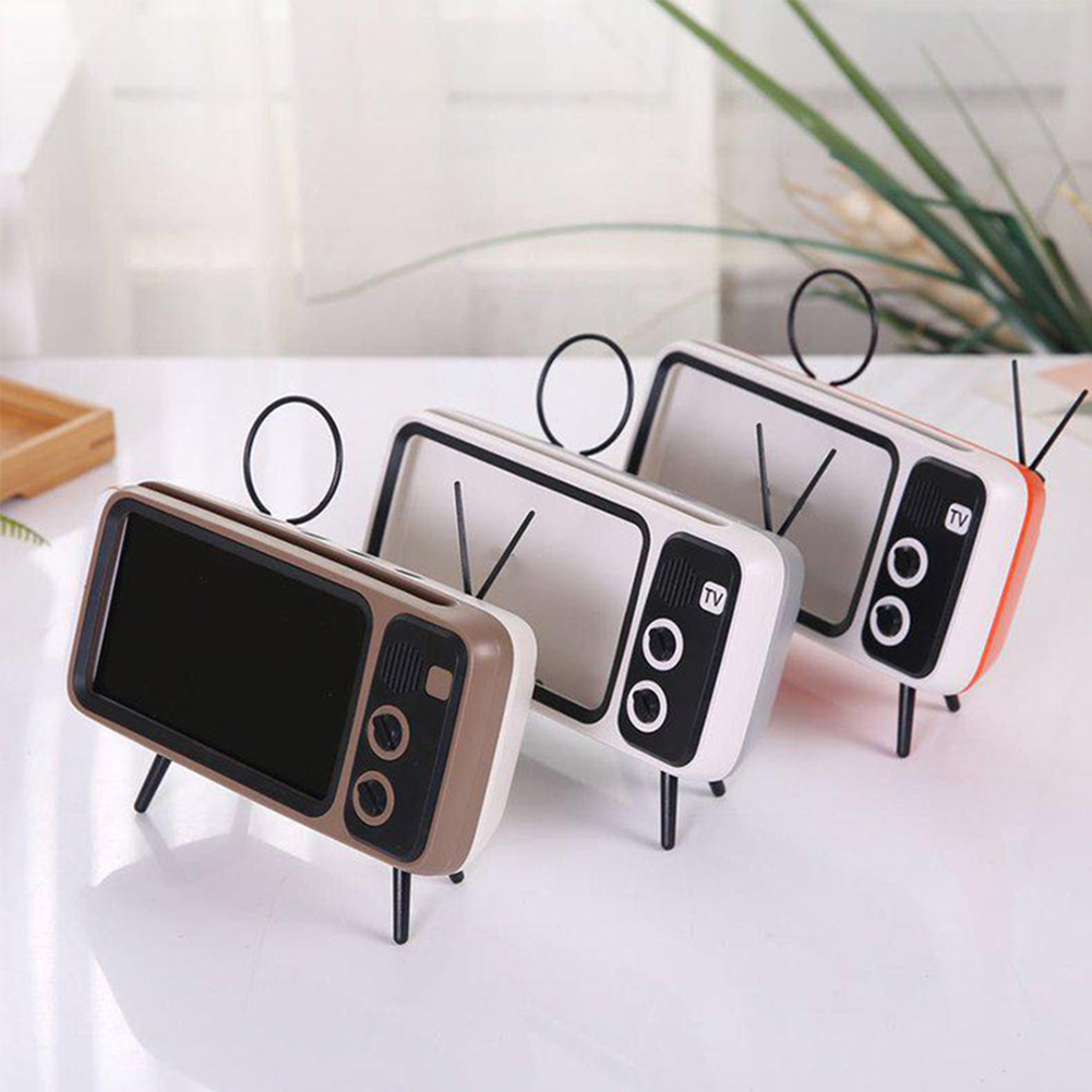 Retro Tv Phone Holder For Iphone X 7 8 Wireless Bluetooth Bass Speaker Universal 4 7 5 5 Inch Mobile Stand For Samsung S9 S10 Phone Holders Stands Aliexpress