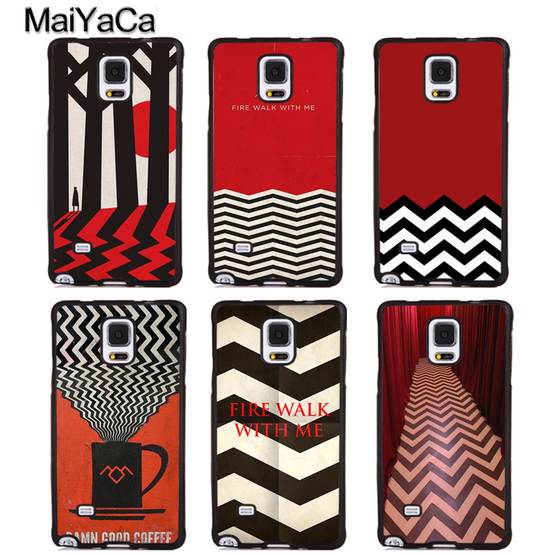 MaiYaCa twin peaks Soft Rubber Skin Mobile Phone Cover For Samsung Galaxy S5 S6 S7 S8 S9 edge plus Note 4 5 8 Back Case