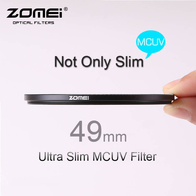 49 мм ZOMEI PRO ультра тонкий MCUV 16 слой покрытием оптическое стекло MC флеш-canon NIkon хойя Sony DSLR объектив камеры 49 мм