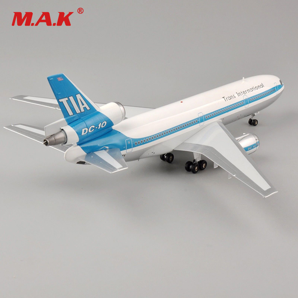 Kid Airplane Toys 1/200 Scale Aviafion NI02TV McDonnell Douglas DC-10-30 Trans International Airline Aircraft for Collection