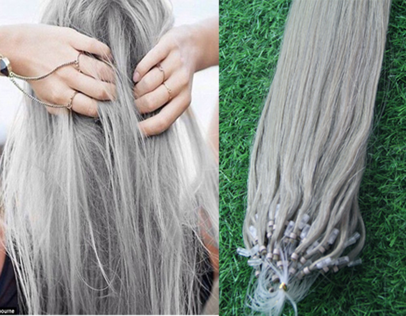 Micro loop ring links remy straight silver grey human hair micro loop ring links remy straight silver grey human hair extensions 100glot 1gstrand brazilian micro bead hair extensions in micro loop ring hair pmusecretfo Image collections