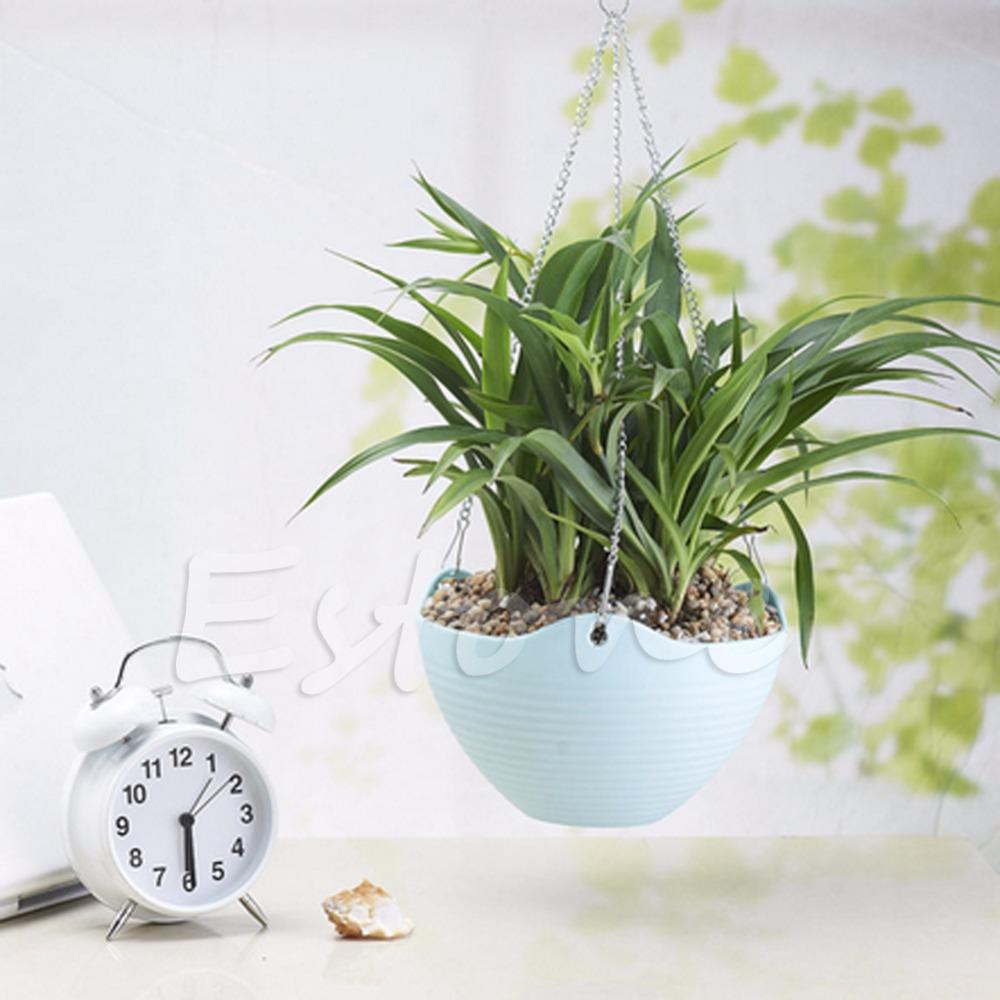 Flexible jardin suspendu chaîne de pot de fleur en plastique planteur panier coloré hanging pots de