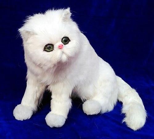 big new simulation cat model plastic&fur sitting cat doll gift 40x33cm a176 big sitting simulation white cat model plastic
