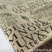 ABC English Half A Meter From The Sale Of Newspapers Printed Cotton Linen Hemp Linen Cloth