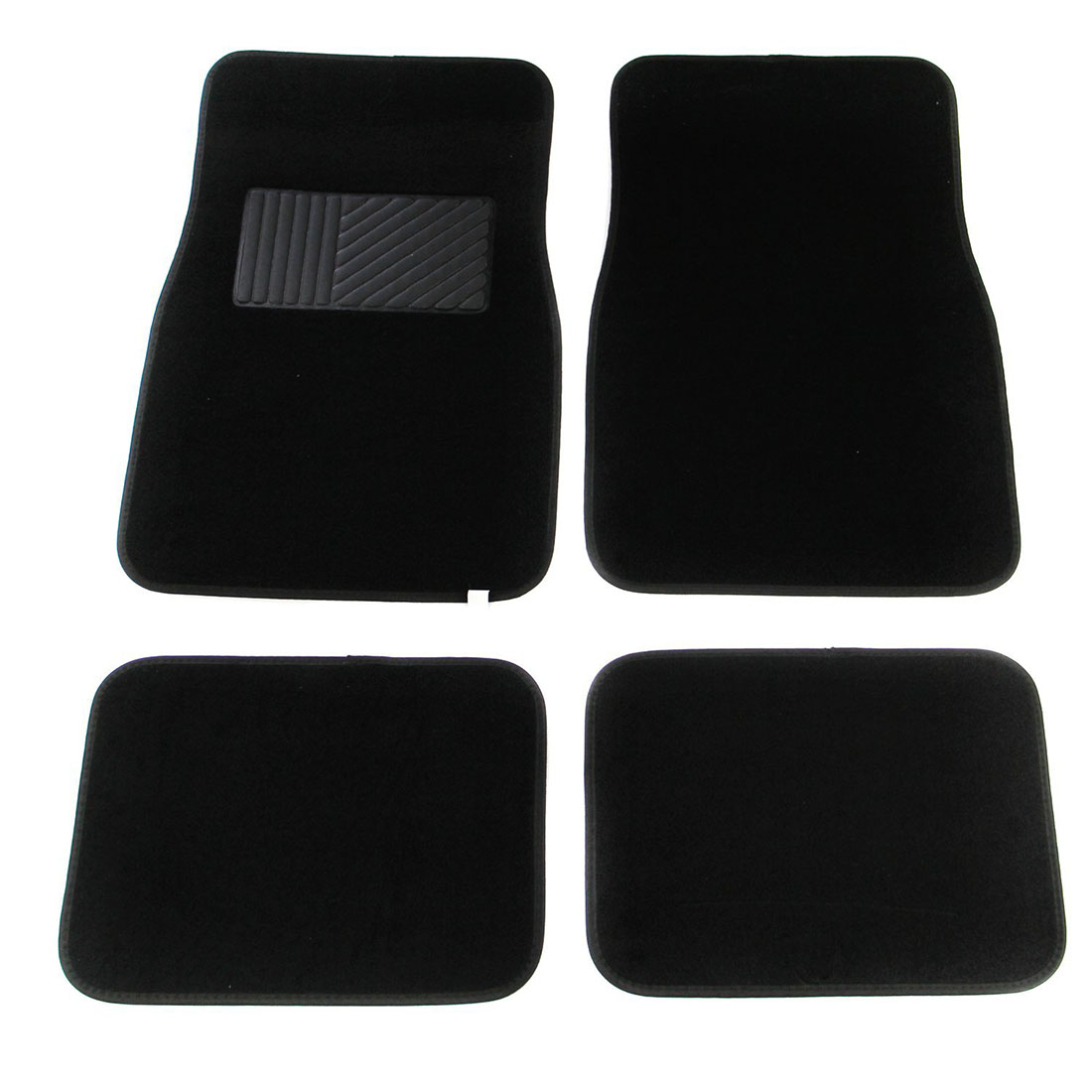 Multi Season Carpet Floor Mats 4pc Set Black Fit Most Cars, SUVs, Vans And Trucks