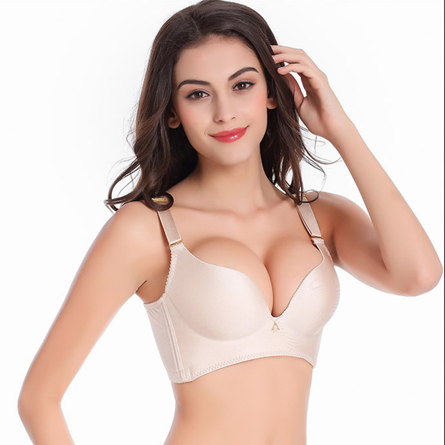 fa1f1ddbd7 Fashion Sexy Women Bra Adjustable Brassiere Seamless Lingerie Super Push Up  Bra 9 Color Plus Size ABC Cup Bras For Women