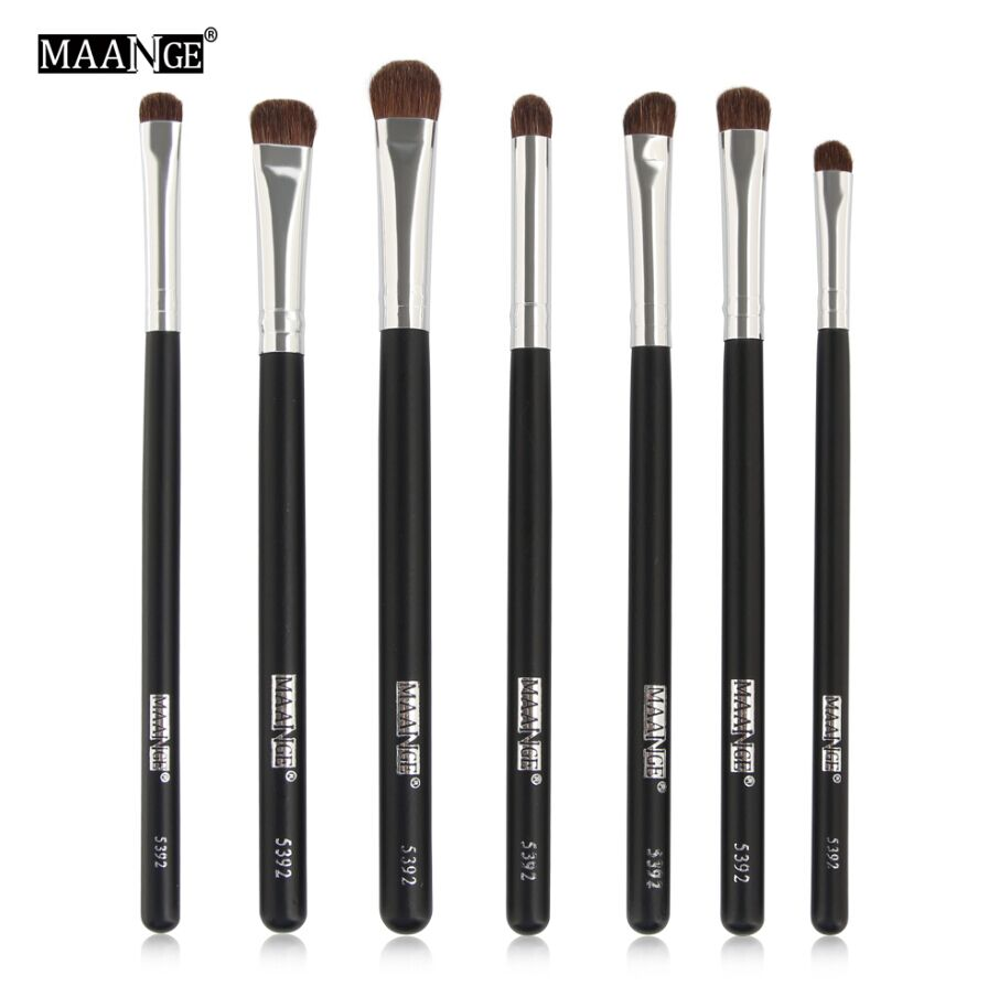 7pcs Natural Hair font b Eye b font Makeup Brushes Set Professional Eyeshadow font b Shadow