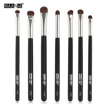 7pcs Natural Hair Eye Makeup Brushes Set Professional Eyeshadow Shadow Brushes Makeup Tool Shader Blending Make Up Brushes Set