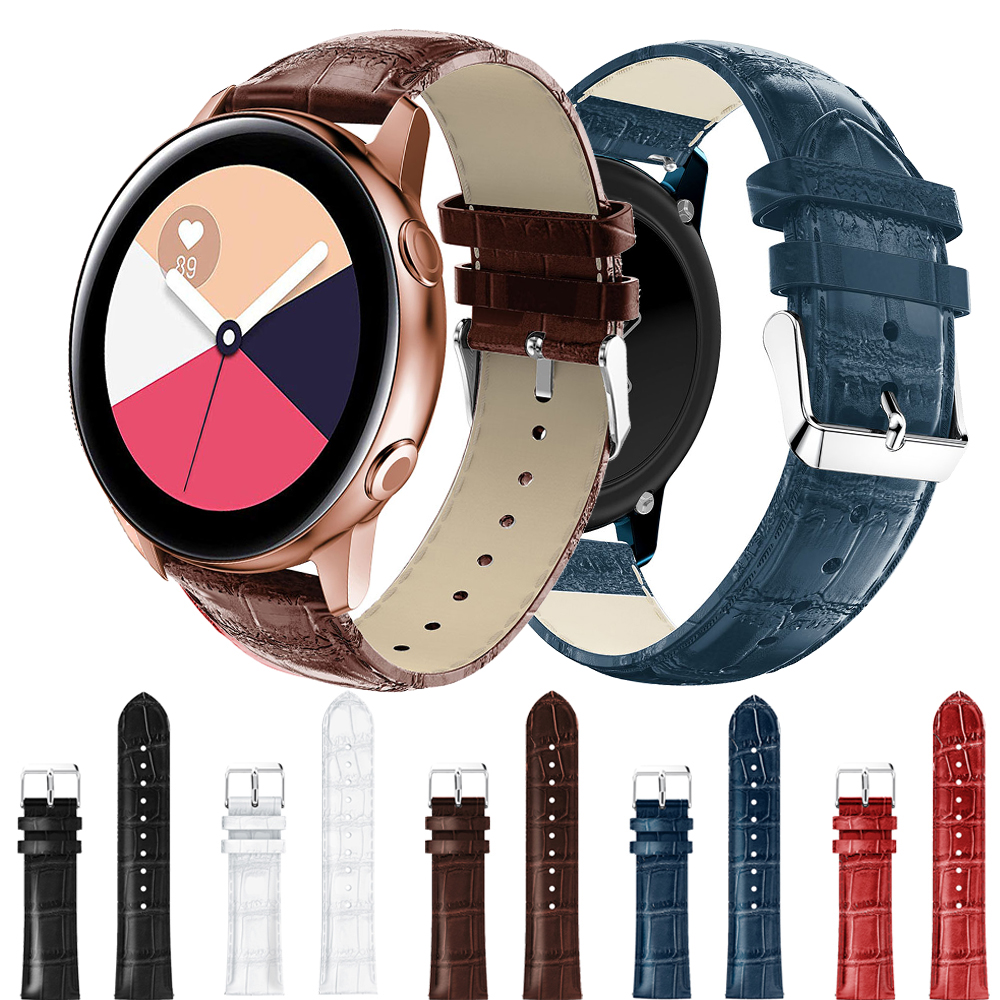 Bracelet For Samsung Galaxy Watch Active 2 1 Straps Leather Bands For Samsung Galaxy Watch 42mm Watch Strap 20mm Watch Band