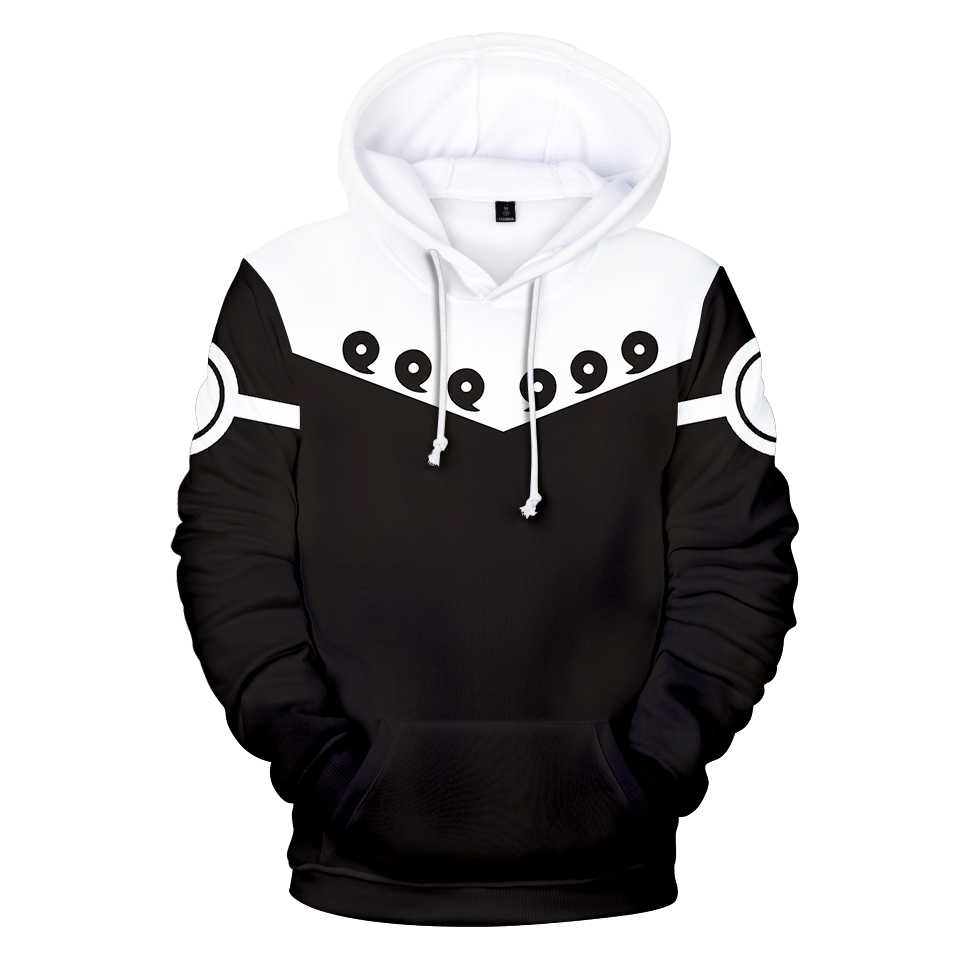 Naruto 3D Hoodies Men/women Fashion Hip Hop Keep Warm Autumn 3D Print Naruto Men's black and white Hoodies Sweatshirt Clothes