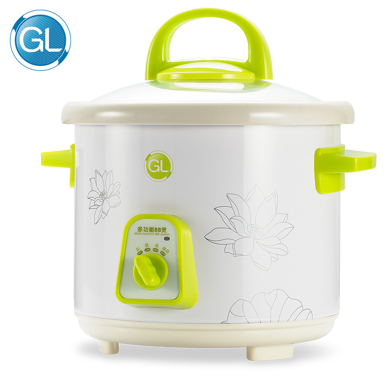 GL 220V 135W 1L Ceramic Intelligent Baby Food Pot Green Security Porridge Pot Baby Porridge Electric Cooker Cute Rice Cooker cukyi stainless steel electric slow cooker plug ceramic cooker slow pot porridge pot stew pot saucepan soup 2 5 quart silver