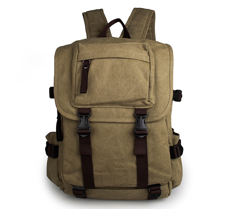 Unisex Casual Canvas Backpack Tote Shoulders Bag 9023N casual canvas satchel men sling bag