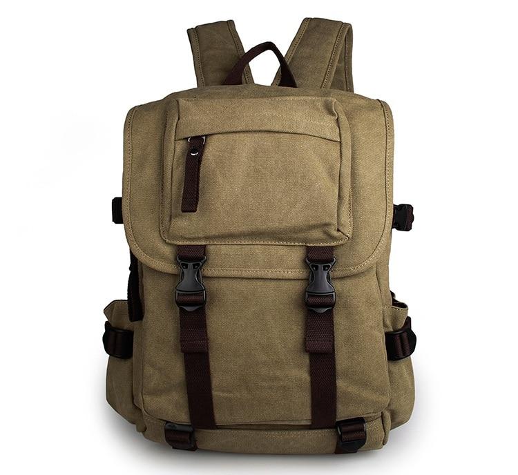 Unisex Casual Canvas Backpack Tote Shoulders Bag 9023N