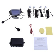 Датчик Парковки 4 Датчика Обратный Резервный Системы Радар Комплект с ЖК-Дисплей Монитор для Всех Автомобилей