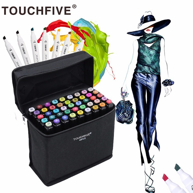 Touchnew 168 Colors Artist Painting Art Marker Alcohol Based Sketch Marker For Drawing Manga Design Art Set Supplies Designer promotion touchfive 80 color art marker set fatty alcoholic dual headed artist sketch markers pen student standard