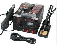 DHL 무료 배송 3in1 saike 909D 납땜 스테이션 핫 에어 건 110V/220V/700W 납땜 인두 saike 909d 납땜 기계 3 in1