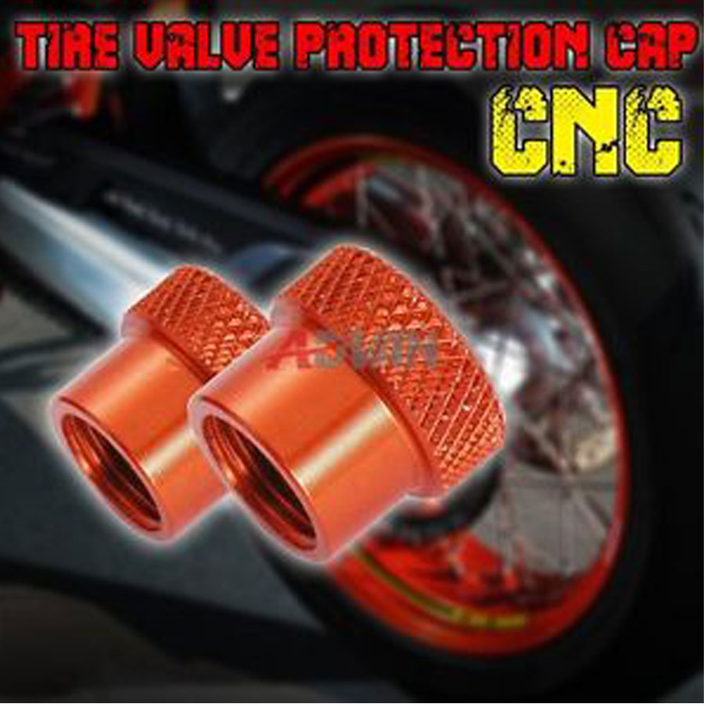 Hot Aluminum Tire Tyre Wheel Pressure Valve Stem Caps Tire Screw Dust Cover Motocycle High Quality For All KTM motorcycle