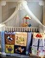 Горячие продают 8 шт. Кроватки Baby Cot Bedding Set Одеяло бампер Лист Пыли Рябить Подгузник сумка 5 пунктов для ребенка мальчик