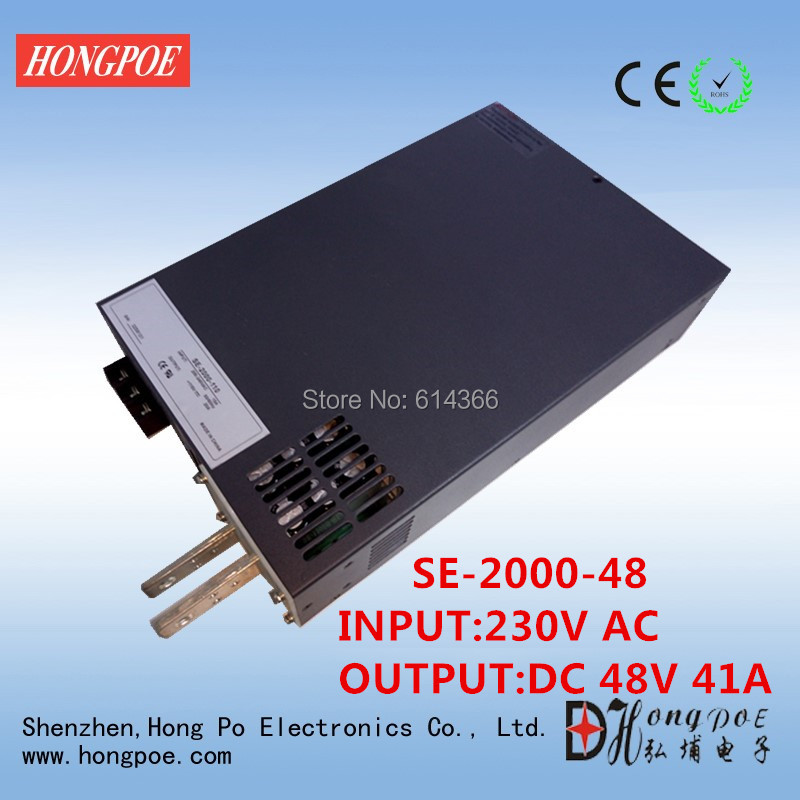 2000W 41A 48V Power Supply 48V 41A Output voltage current adjustable AC-DC 0-5V analog signal control DC48V 0-48V cps 6011 60v 11a digital adjustable dc power supply laboratory power supply cps6011